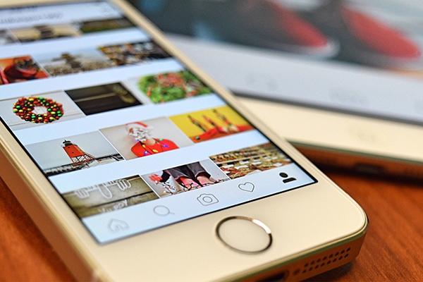 pantalla instagram redes sociales
