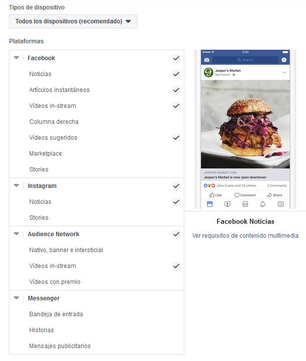 Editar ubicaciones Facebook Ads Mediagroup
