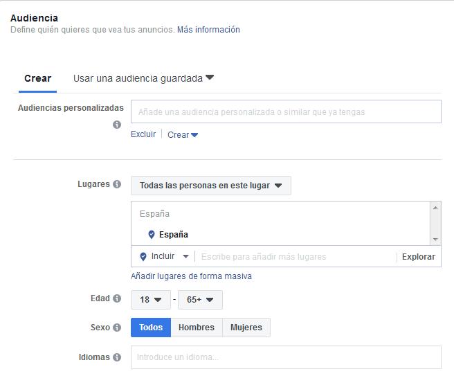 Audiencia Facebook Ads Mediagroup