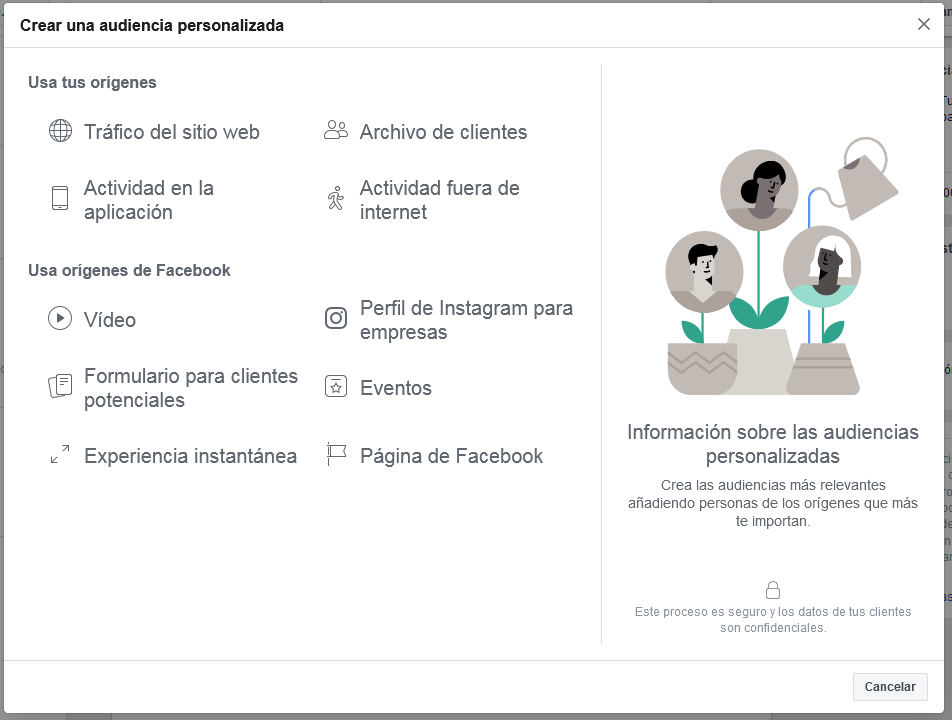 Audiencia personalizada Facebook Ads Mediagroup