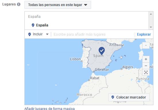 Geografía Facebook Ads Mediagroup