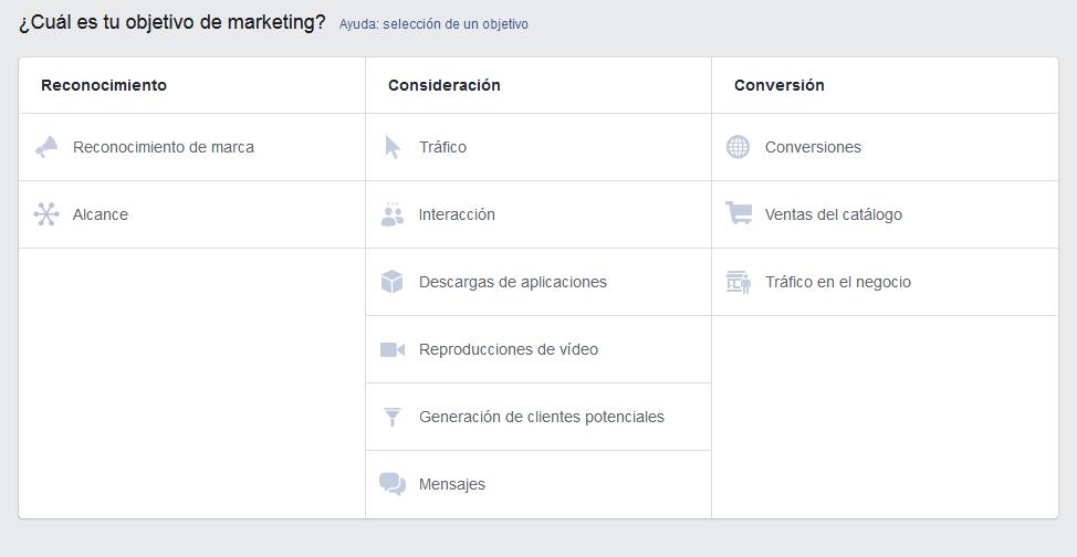 Objetivos Facebook Ads Mediagroup